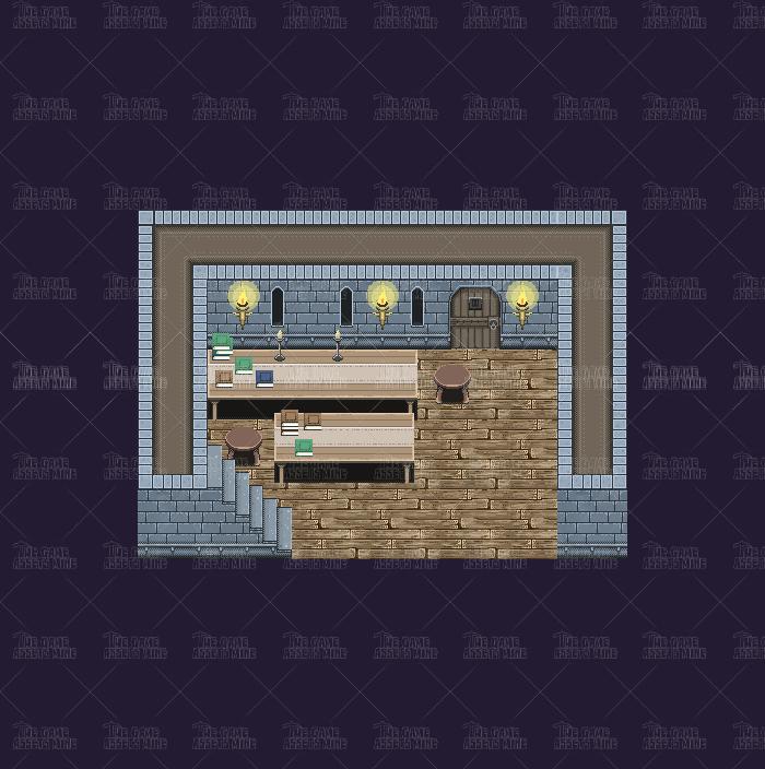 Pixel Art Old Castle