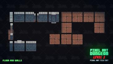 Pixel Art Top Down Dungeon Level 2 Thegameassetsmine