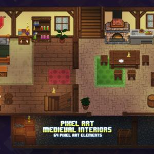 Pixel Art Town - thegameassetsmine